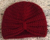 0-3 months baby turban in red