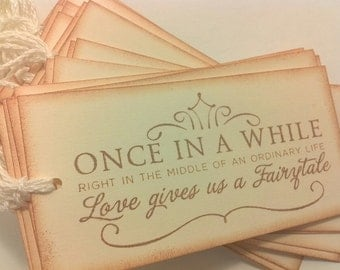 Made to Order/wedding wishing tree tags/ fairytale /set of 100