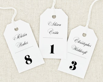 Escort Card Tag Template MEDIUM size Seating Cards Place