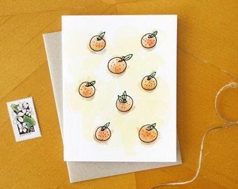 Take A Juice Break: Illustrated Orange Stationary Bright Summer Fruit Greeting Card