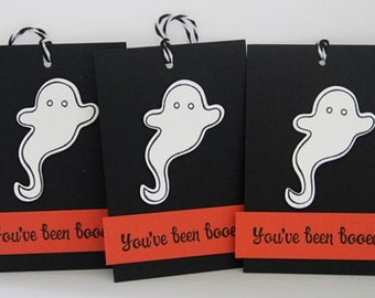 You've Been Boo-ed Ghost Halloween Gift Tags Set of Three, Party Favor Halloween Ghost Tags, Boo-ing Gift Tags