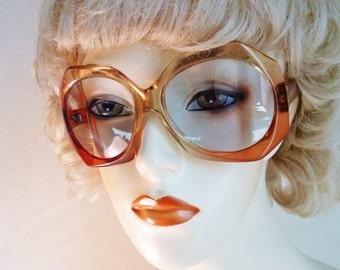 Orange Mod Sunglasses Oversized Cool Ray