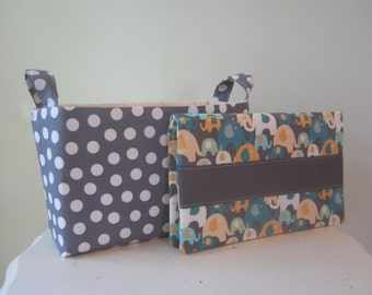 Small Diaper caddy & diaper clutch baby gift