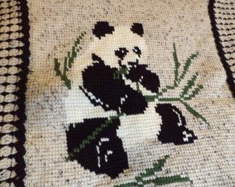 Cuddly Panda Handmade Crotchet Afghan