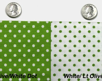 Lt Olive/ White Dots from RJR Fabrics Crazy for Dots & Stripes - Cotton Fabric Yardage