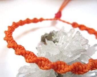 Orange Friendship Bracelet /Love/Surf Round Bracelet Handmade