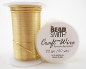 22gauge 20yards Spool Gold Round Bead Smith Craft Wire-Qty.1 spool (F828)