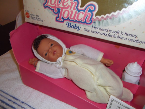 1979 Mattel Love N Touch Bare Butt Baby Doll Aa Dark Version