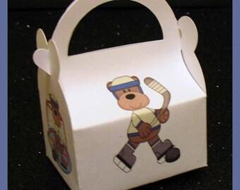 hockey favor box, hockey baby shower favor, hockey birthday favor box