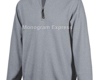 Oxford Gray Crosswind Quarter Zip Sweatshirt with Free Embroidary - Large