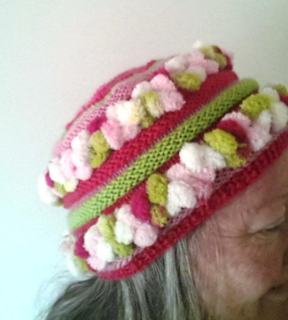 Knitting Wearable Art : Knit womens beanie wearable art hat slouchy plus