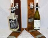Table Top Wine Barrel Tiki Torch