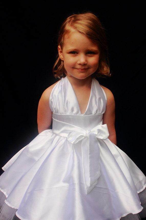 Items similar to Toddler Marilyn Monroe White Dress on Etsy