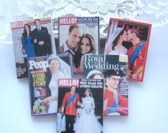 dollhouse royal wedding kate and william   magazine x 6  lakeland artist new