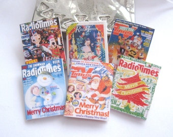 dollhouse vintage style television magazines x 6 christmas listings lakeland artist new
