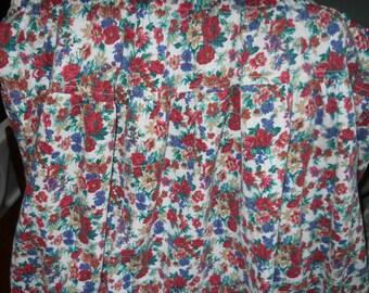 Plus size Cotton skirt floral design size 3x