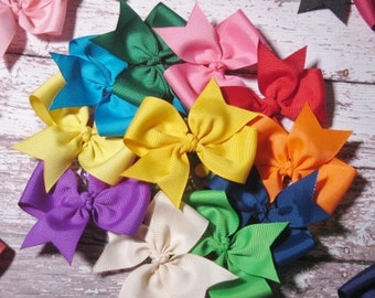 25 piece set - 1.00 Hairbows - Economy/Starter Set - Handmade - Many Colors to Choose From - Clippie