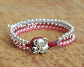 Mommy & Kid bracelet, Elephant bracelet, Elephant jewelry, Handmade Elephant