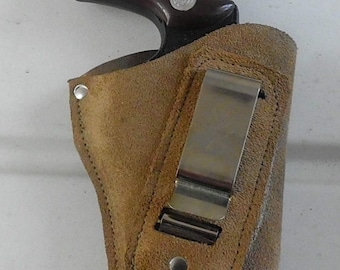 leather suede IWB gun right hand  holster