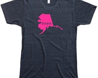 Homeland Tees Men's Alaska Home T-Shirt PINK EDITION