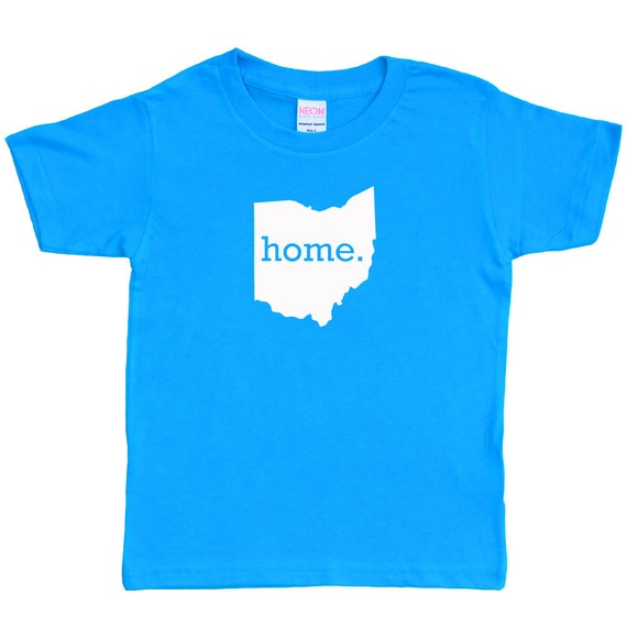 Kids ohio home tee shirt t shirt more colors for Ohio state t shirts for kids