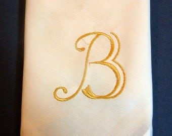 Monogrammed Cloth Napkins - Cloth Napkins - Set of 4 - Eco Friendly napkins