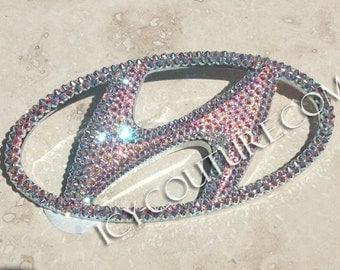 HYUNDAI Car Bling Emblem with Swarovski crystals