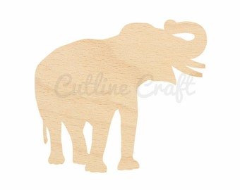 Wood elephant shape etsy for Templates for wood cutouts