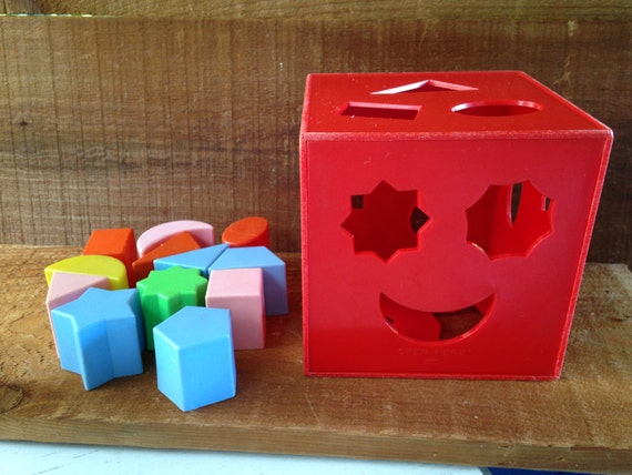 1970 S Shape Sorter Toy A Child Guidance Toy Vintage