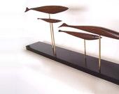 Mid century modern fish sculpture danish modern retro 1950s 1960s