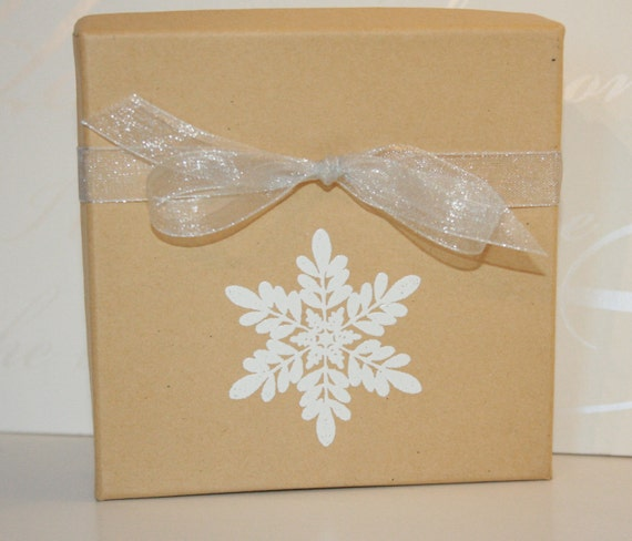 Holiday gift box embossed boxes paper