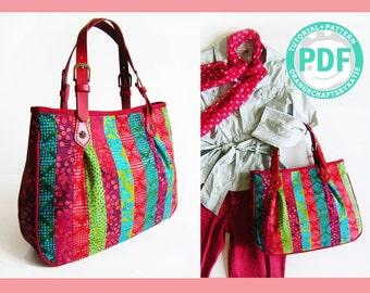 Curved bottom bag / PDF / sewing tutorial and patterns / Shoulder Bag
