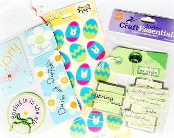 CLEARANCE SALE Scrapbooking Embellishments, Spring Assortment Lot, New In Box, Card Making, Crafts