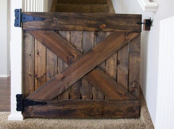 Items Similar To Custom Wood Barn Door Baby Gate On Etsy