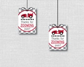 Race Car Favor Tags - Race Car Themed Birthday Party - Digital Design or Handcrafted Tags - FREE SHIPPING