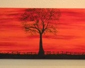 Landscape Painting, Acrylic Painting, Canvas Painting,Blaze - Codysquilts