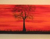 Landscape Painting, Acrylic Painting, Canvas Painting,Blaze - Codysquilts