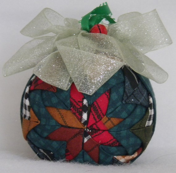 Quilted christmas ornament patchwork by codysquilts on etsy for Christmas ornaments clearance