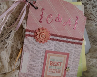 CUSTOM wedding card album.