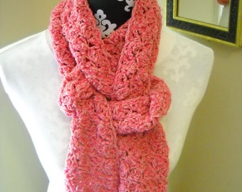 Two Shades of Pink Scarf in Silk / Cashmere