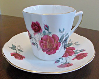 Vintage Bone China Tea Cup and Saucer Made in England