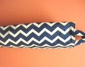 Plastic Grocery Bag Holder, Storage- Cute Chevron Zig Zags,Navy Blue,  Recycle in Kitchen