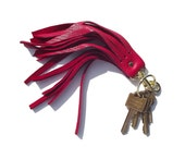Red Fringe Key Chain - SAMPLE SALE