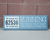 Race Bib and Medal Display Wall Sign