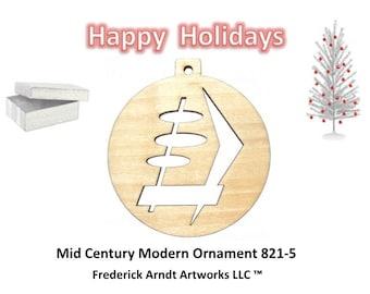 821-5 Mid Century Modern Christmas Ornament