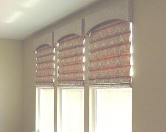 Soft Roman shade - Custom Made Soft Roman Shade With Lining