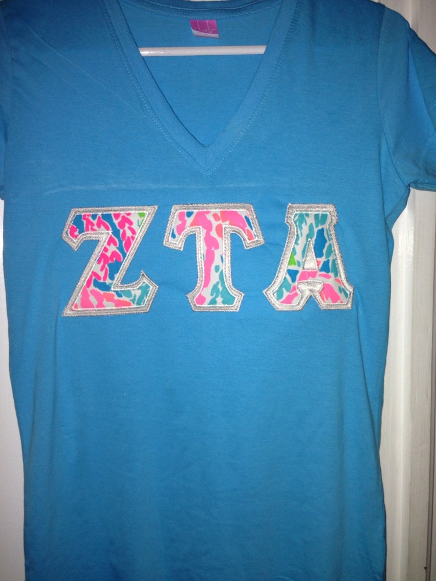 v neck sorority letter shirt with new by personalizedsunshine With v neck greek letter shirts