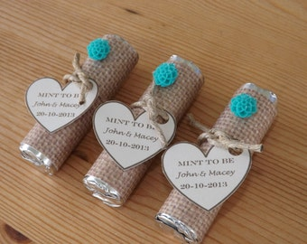 Mint to be Favors- Wedding, Bridal Shower Favors- Personalized Mint to Be Favors- Set of 12