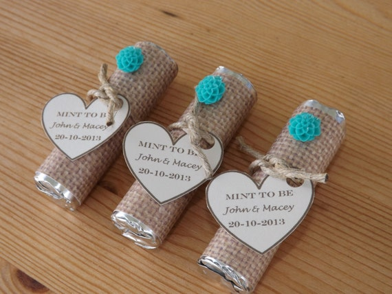 Bridal Show Gift Bag Ideas : Mint to be Favors- Wedding, Bridal Shower Favors- Personalized Mint to ...