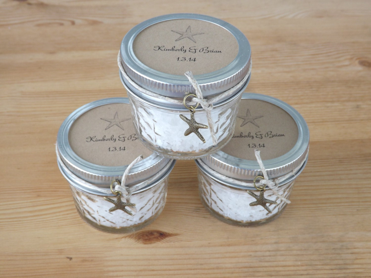 Beach wedding favors mason jar favors bridal shower jar for Shower favors wedding